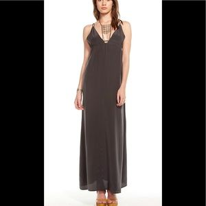 Chaser Strappy Silk Maxi Dress